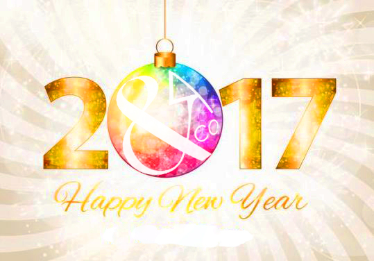 2017-new-year-with-christmas-decor-background-vector-04